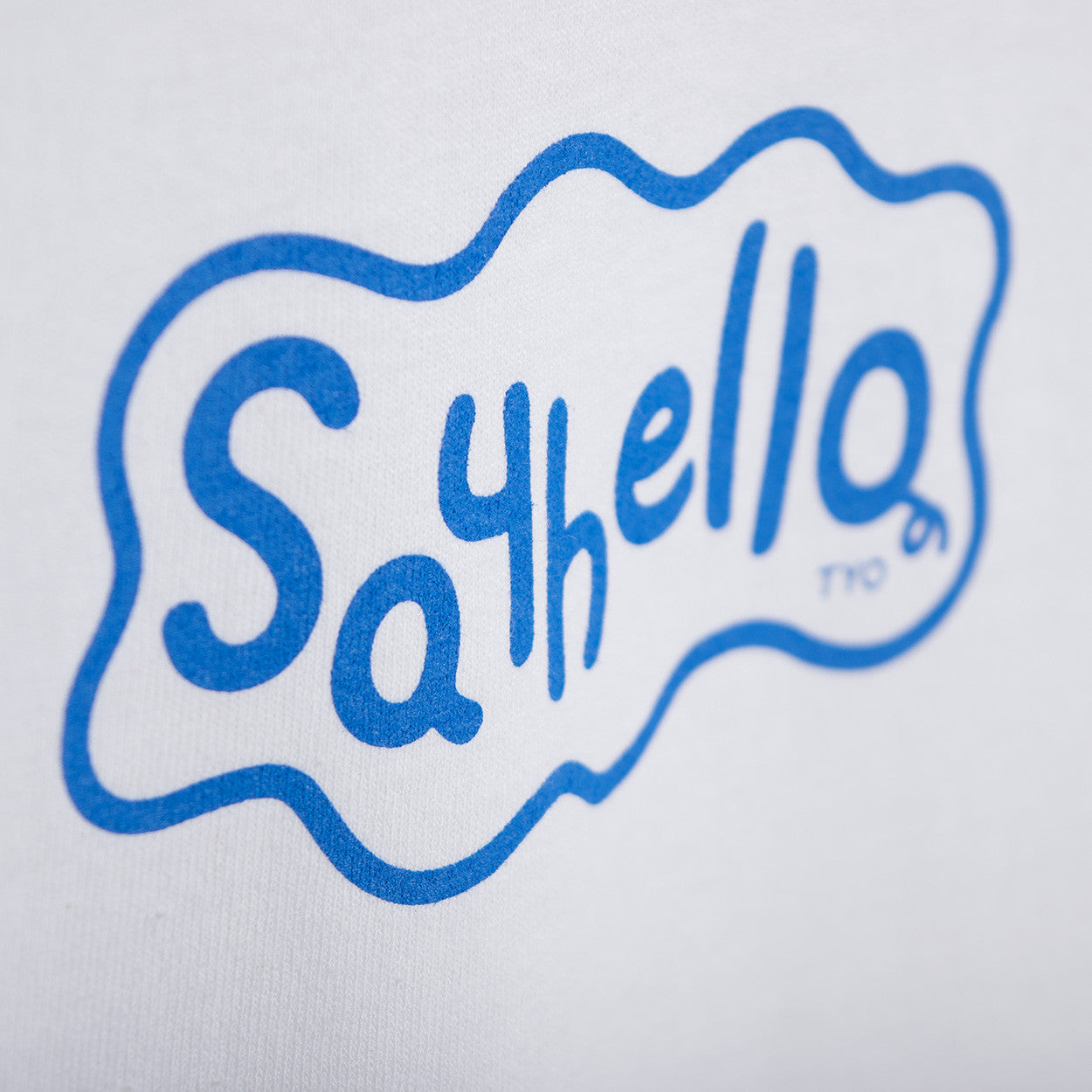 Say Hello P-Logo T-Shirt - White T-Shirt - CARTOCON