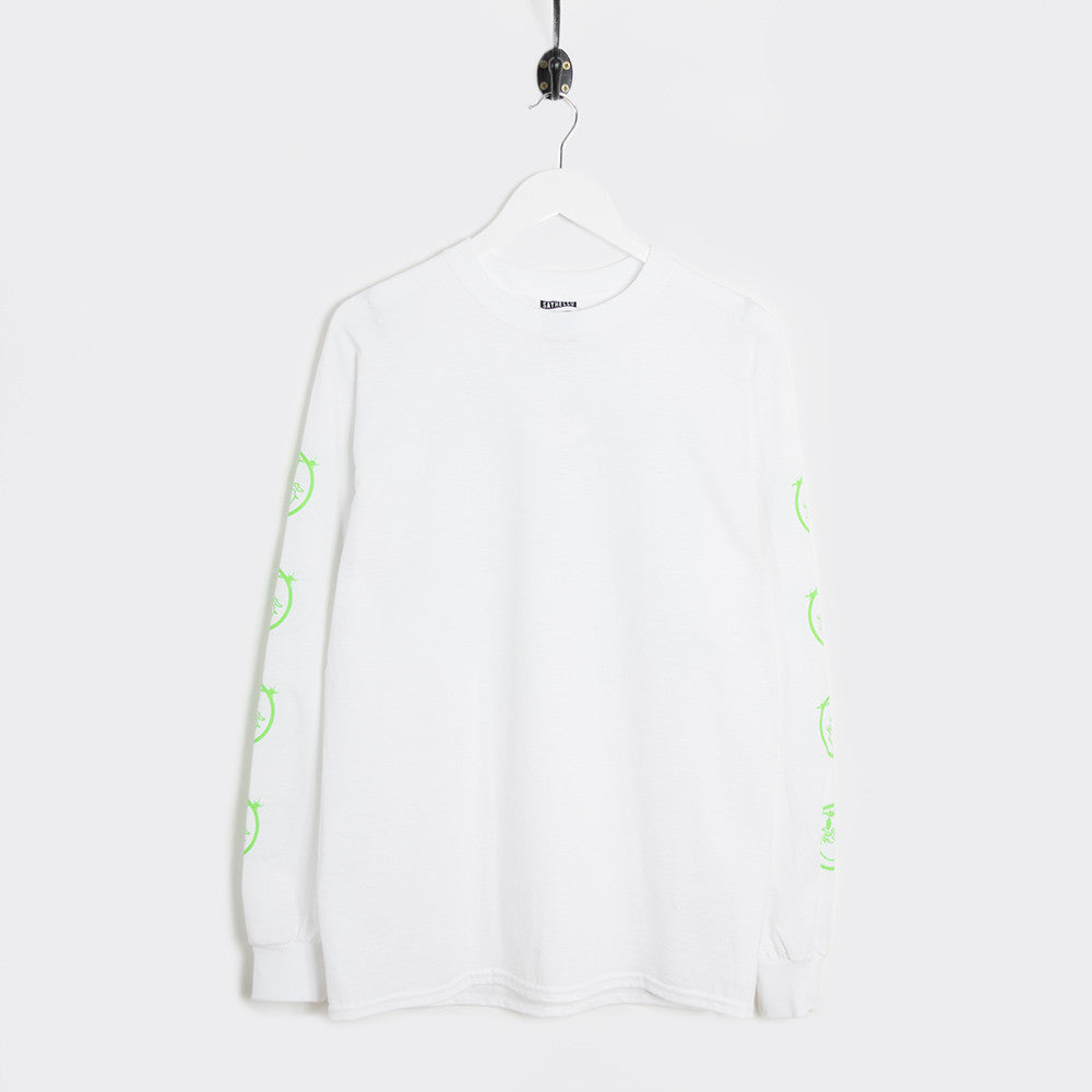 Say Hello Patience L/S T-Shirt - White - 1