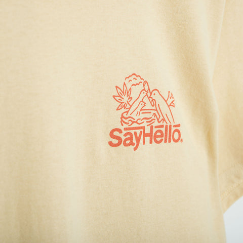 Say Hello Break T-Shirt - Gold T-Shirt - CARTOCON
