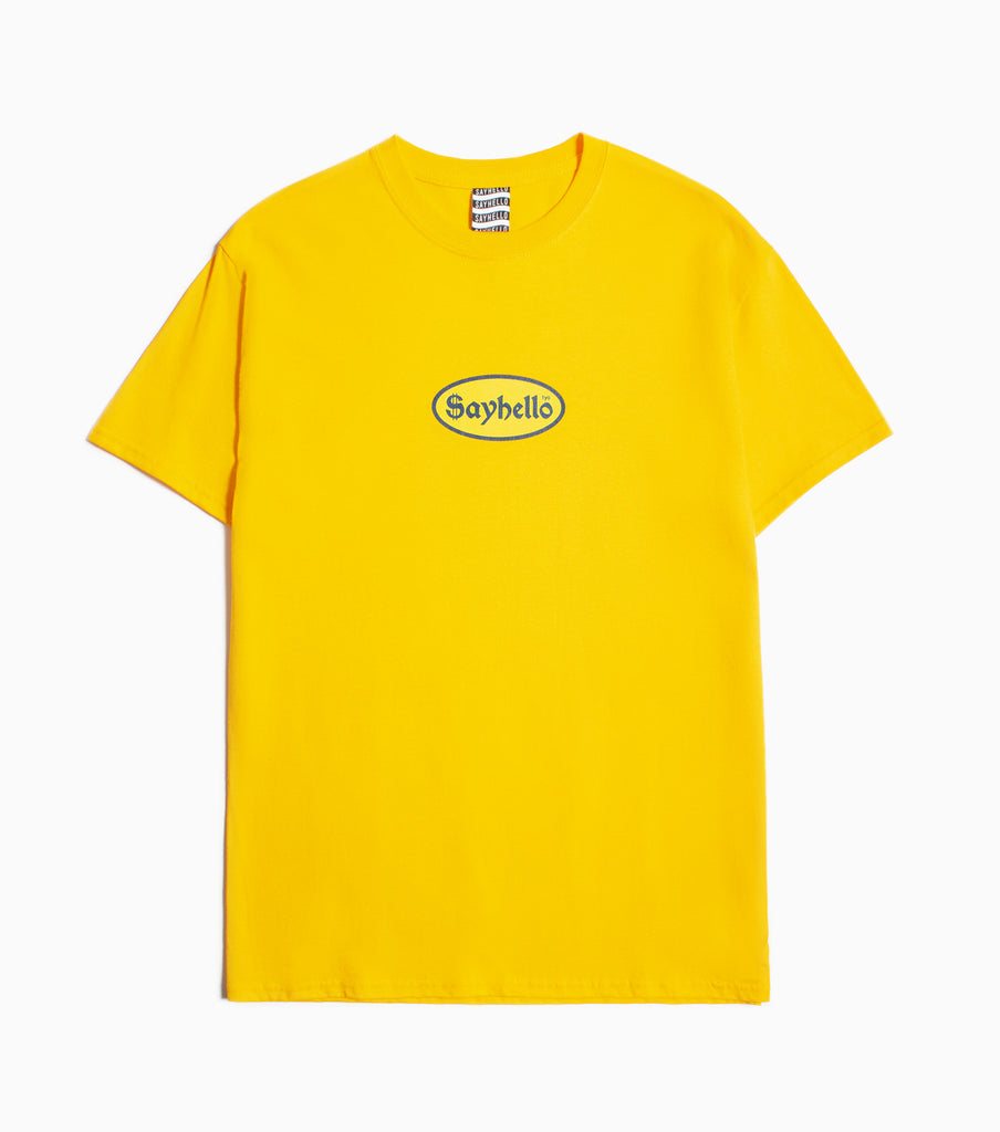 Sayhello Cash Logo T-Shirt - Gold T-Shirt - CARTOCON