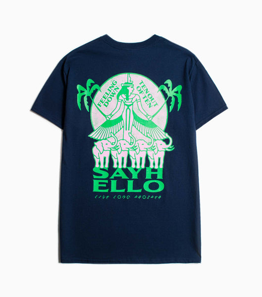 Sayhello Prosper T-Shirt - Navy T-Shirt - CARTOCON