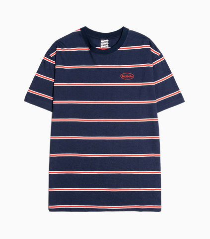 Sayhello Topic Border Stripe T-Shirt - Navy T-Shirt - CARTOCON