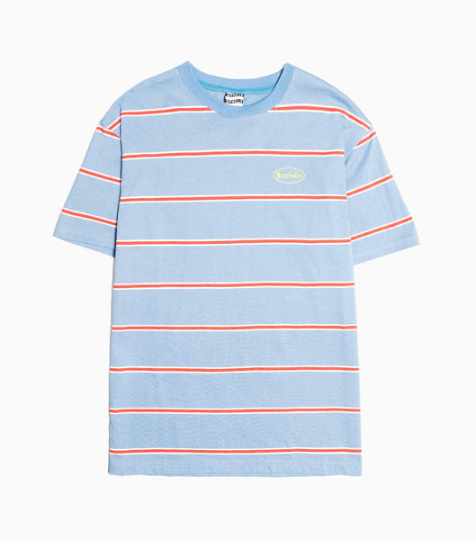 Sayhello Topic Border Stripe T-Shirt - Blue/Grey T-Shirt - CARTOCON