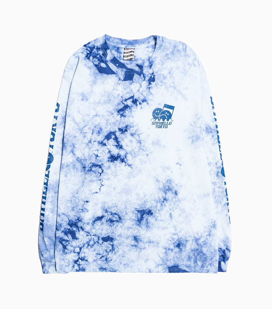 Sayhello Flow Tie Dyed Long Sleeve T-Shirt - Blue