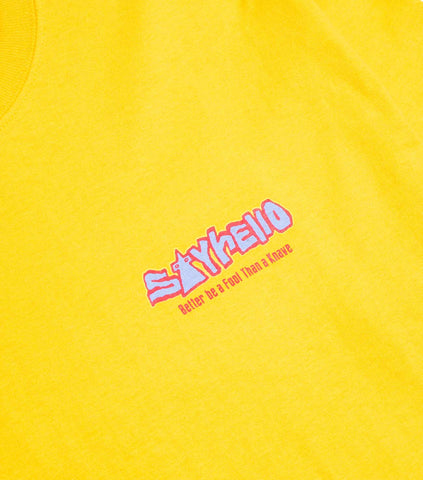 Sayhello Jams T-Shirt - Gold T-Shirt - CARTOCON