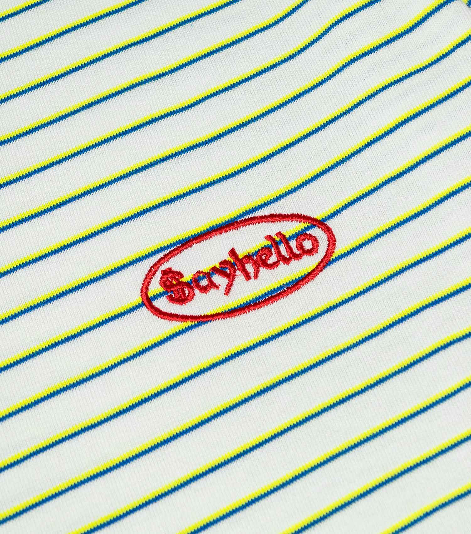 Sayhello Cash Logo Border T-Shirt - White