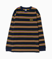 Sayhello Cash Logo Border Long Sleeve T-Shirt - Navy T-Shirt - CARTOCON