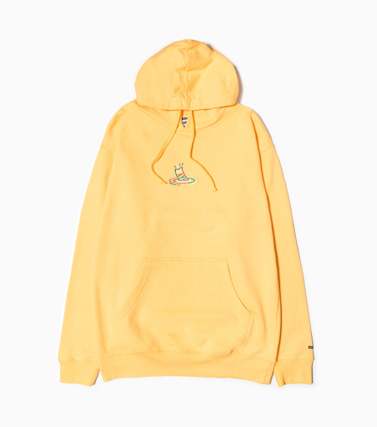 Sayhello G.D.T.S Logo Embroidery Hoodie - Peach