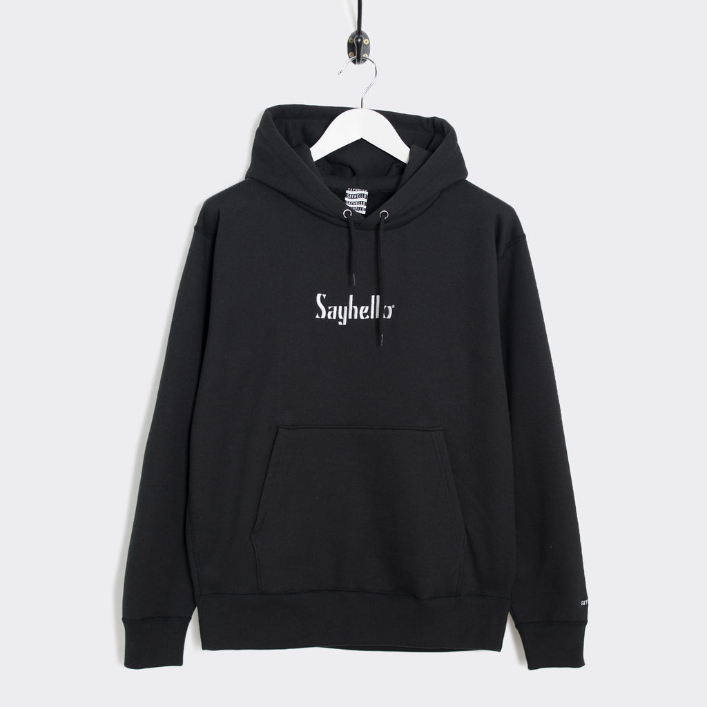 Sayhello Classic Logo Hooded Sweatshirt - Black
