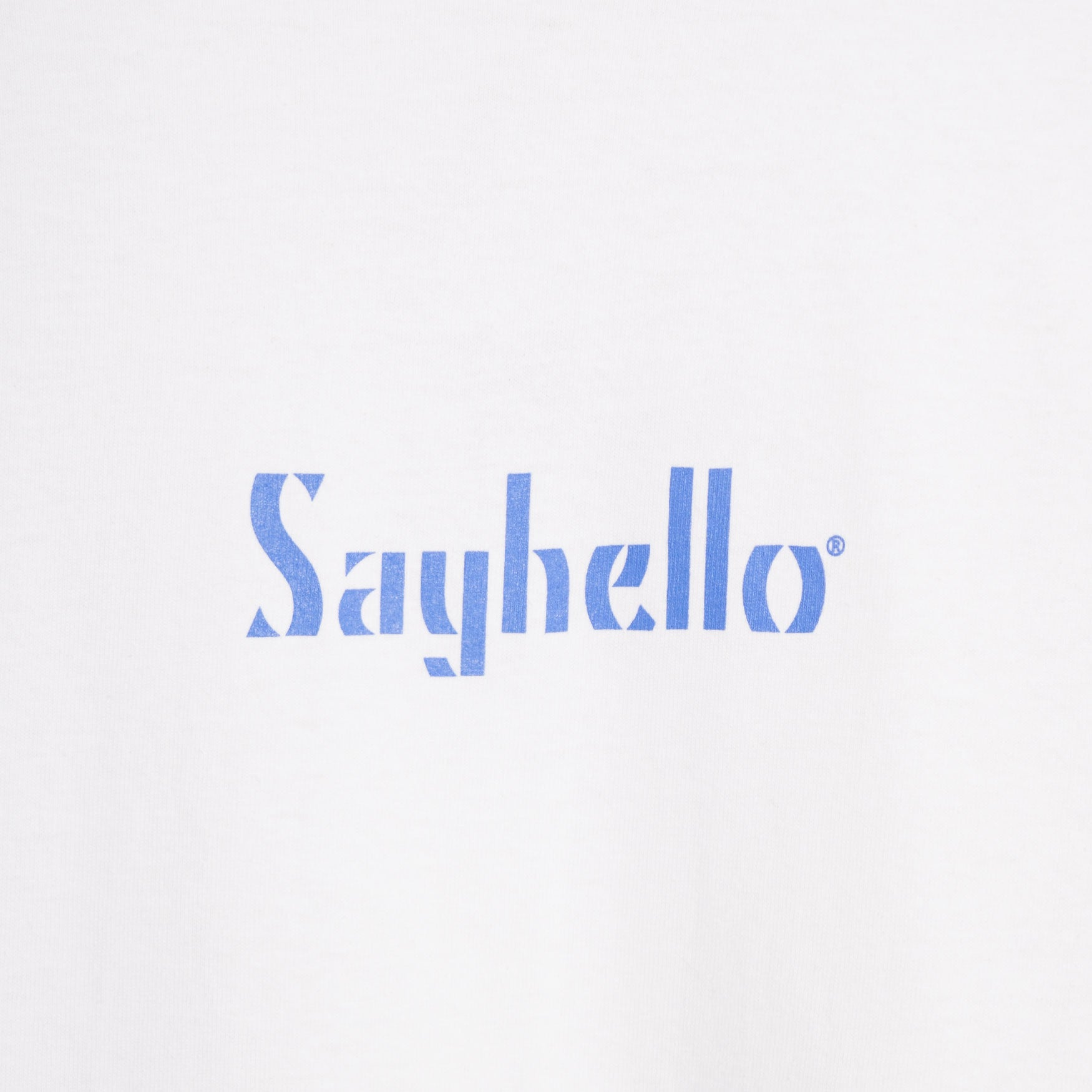 Sayhello Classic Logo T-Shirt - White Not Listed - CARTOCON