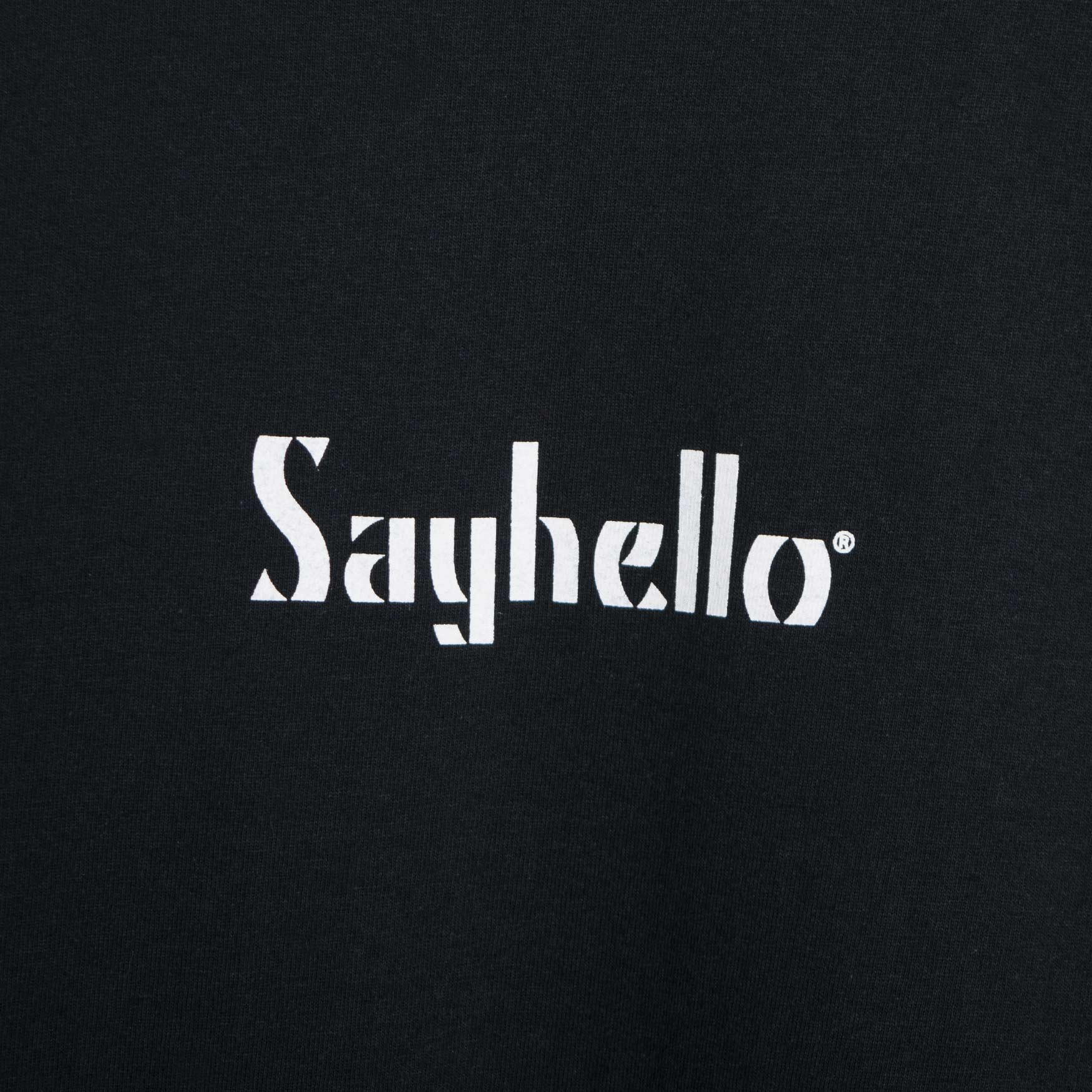 Sayhello Classic Logo T-Shirt - Black Not Listed - CARTOCON