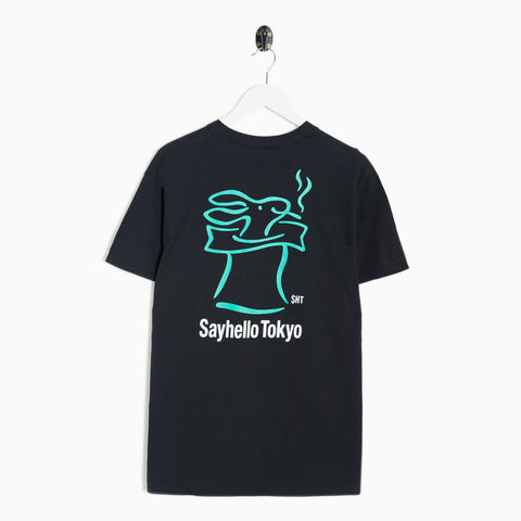 Sayhello Skip T-Shirt - Black Not Listed - CARTOCON