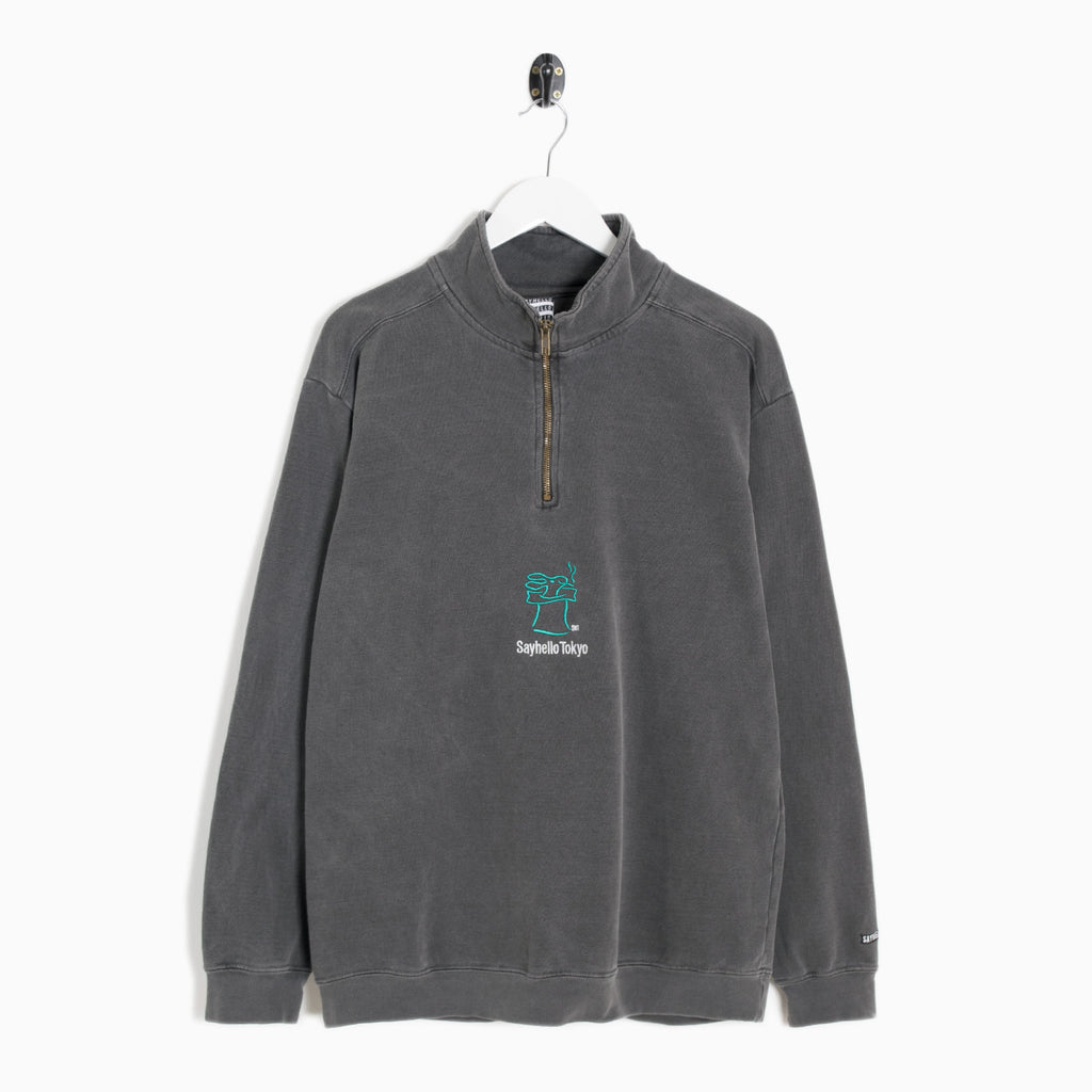 Sayhello Skip Half Zip Sweatshirt - Pepper
