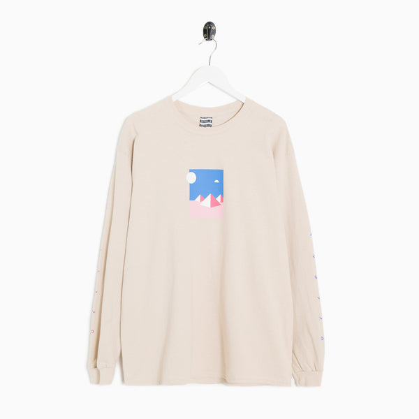 Sayhello Mystery Long Sleeve T-Shirt - Sand Long Sleeve T-Shirt - CARTOCON