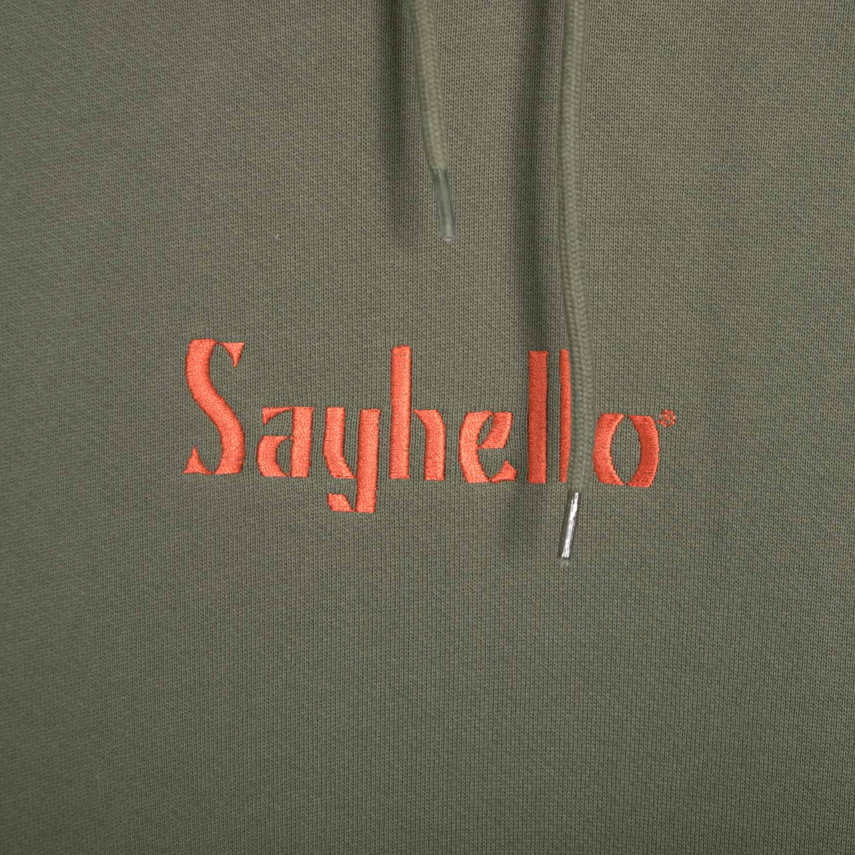 Sayhello Classic Logo Hooded Sweatshirt - Forest Green