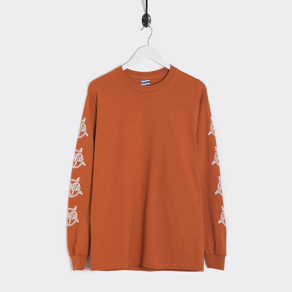 Sayhello Tokyo Slash Long Sleeve T-Shirt - Texas Orange