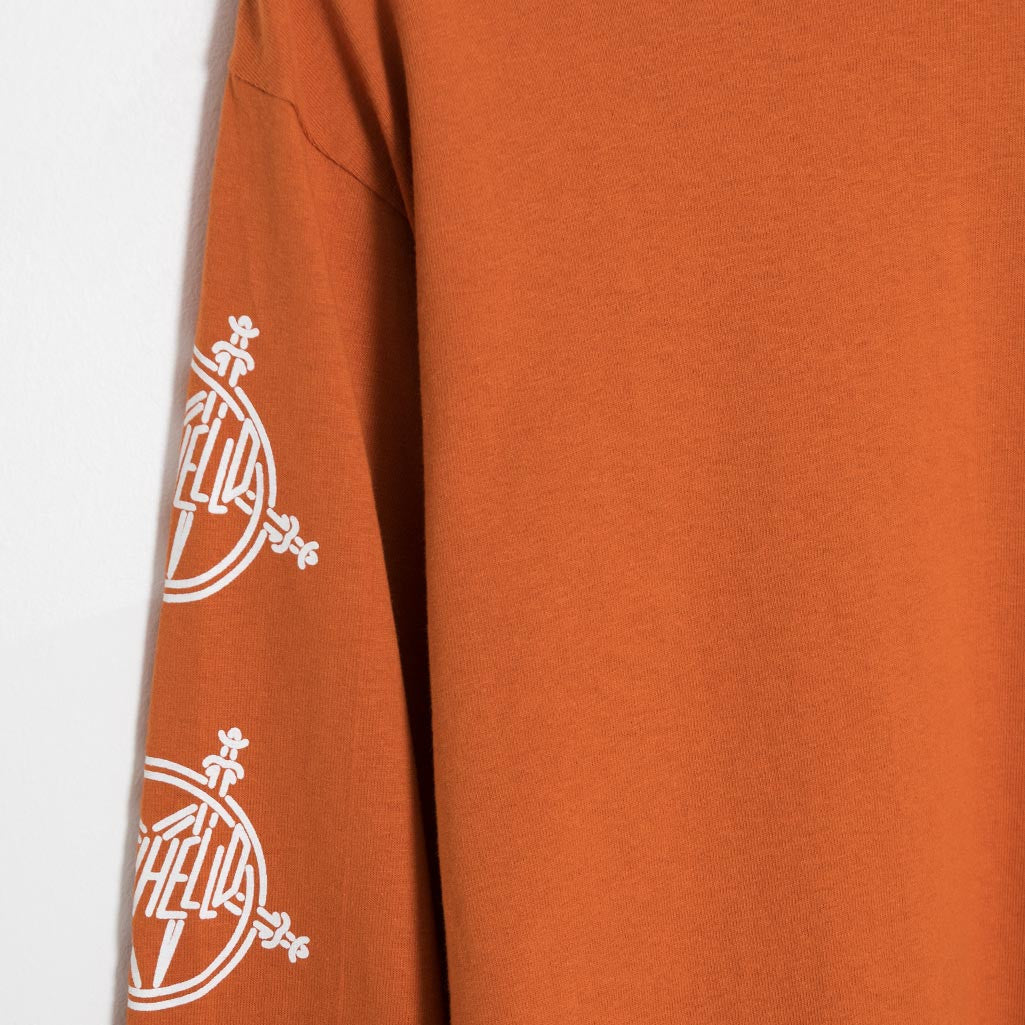 Sayhello Tokyo Slash Long Sleeve T-Shirt - Texas Orange T-Shirt - CARTOCON
