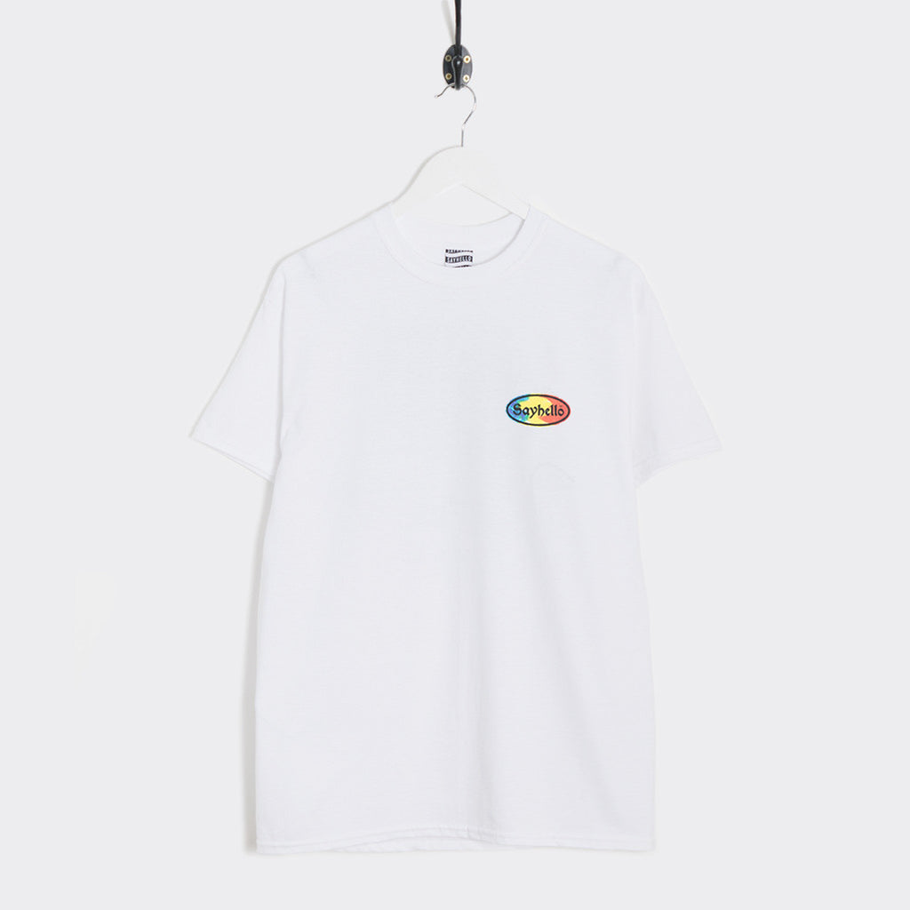 Sayhello Cash Logo T-Shirt - White