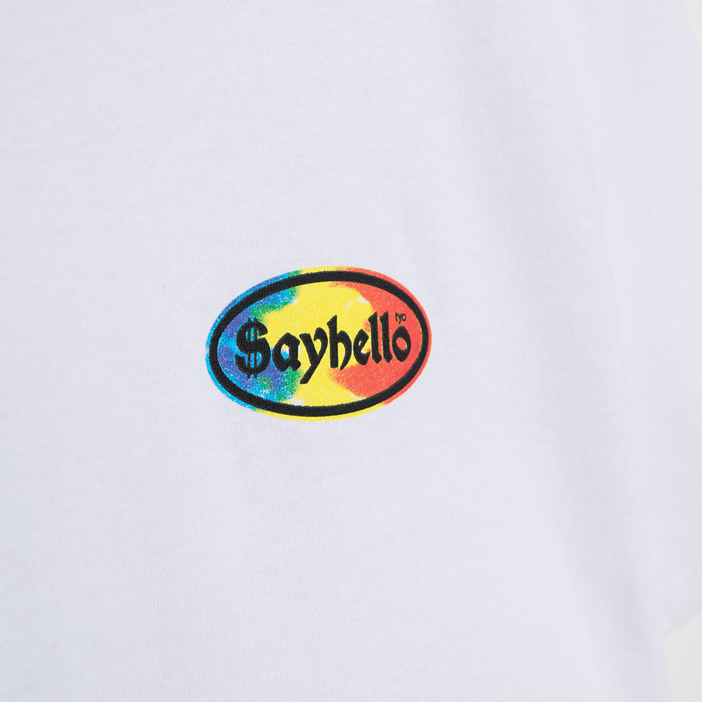 Sayhello Cash Logo T-Shirt - White T-Shirt - CARTOCON