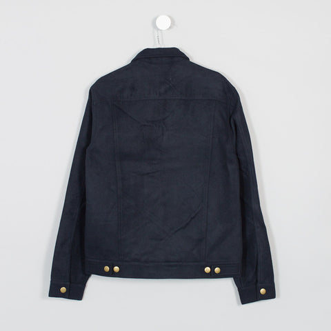 Shades of Grey Wool Trucker Jacket – Navy  - CARTOCON