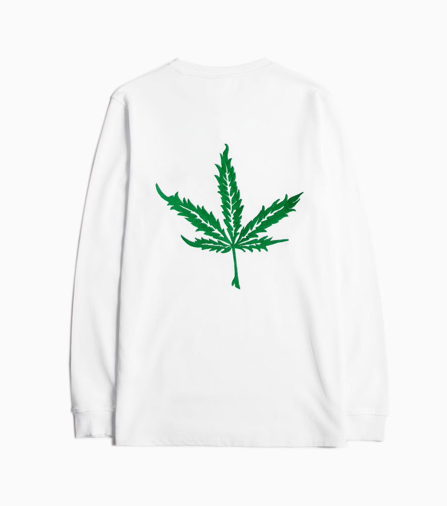 Soulland Cooper Embroidered Long Sleeve T-Shirt - White