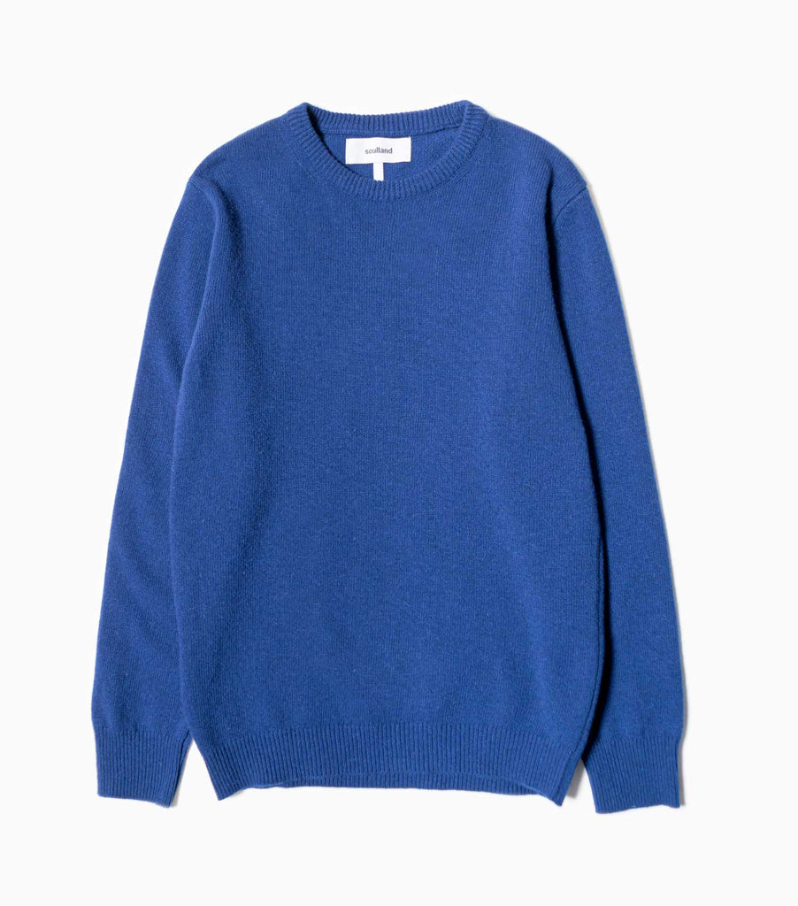 Soulland Giorgio Wool Jumper - Blue