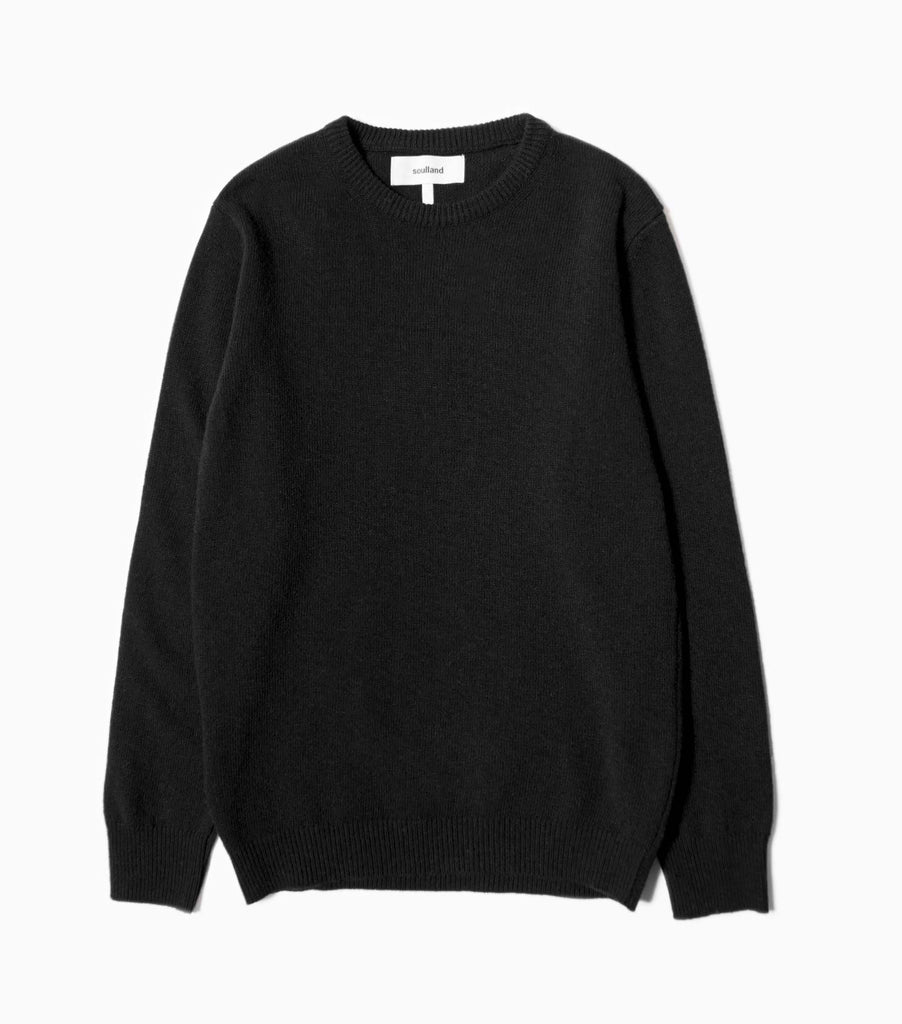 Soulland Giorgio Wool Jumper - Black