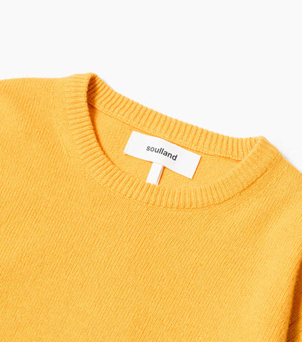 Soulland Giorgio Wool Jumper - Yellow Knitwear - CARTOCON