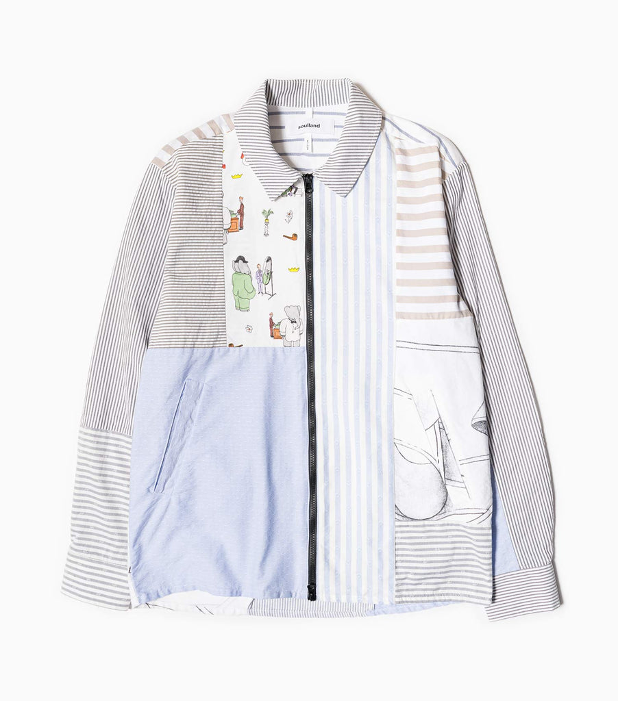 Soulland Over/Out Trey Zip-Up Shirt - Multi