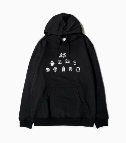 Soulland Meets Numbers Pyramid Hoody - Black Hoody - CARTOCON