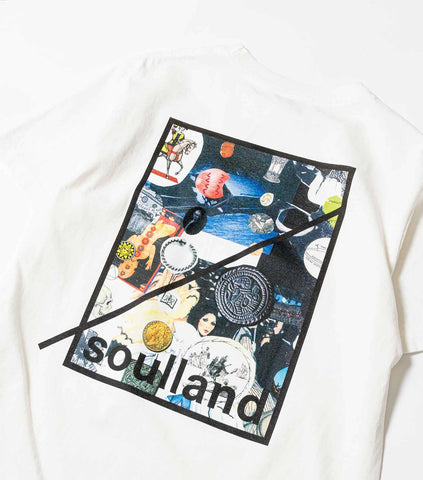 Soulland Meets Numbers Collage pocket T-Shirt - White T-Shirt - CARTOCON