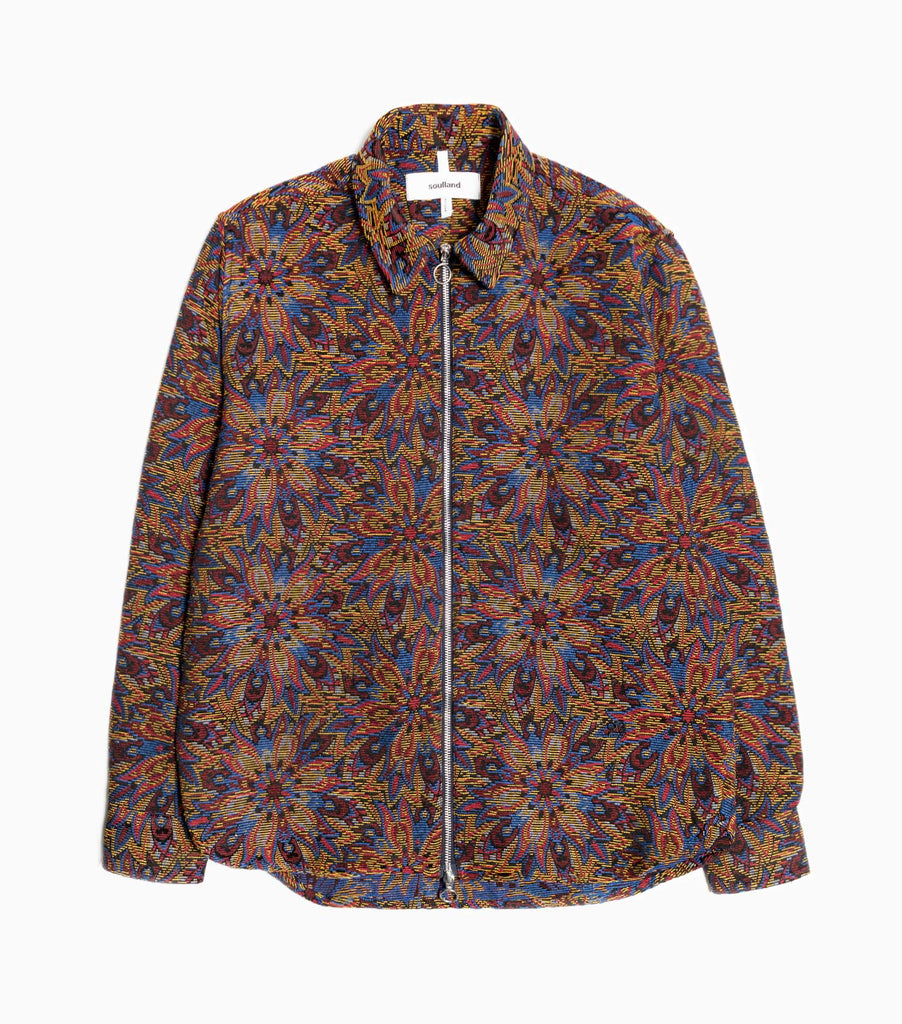Soulland David Jacket - Multi Jacquard Woven