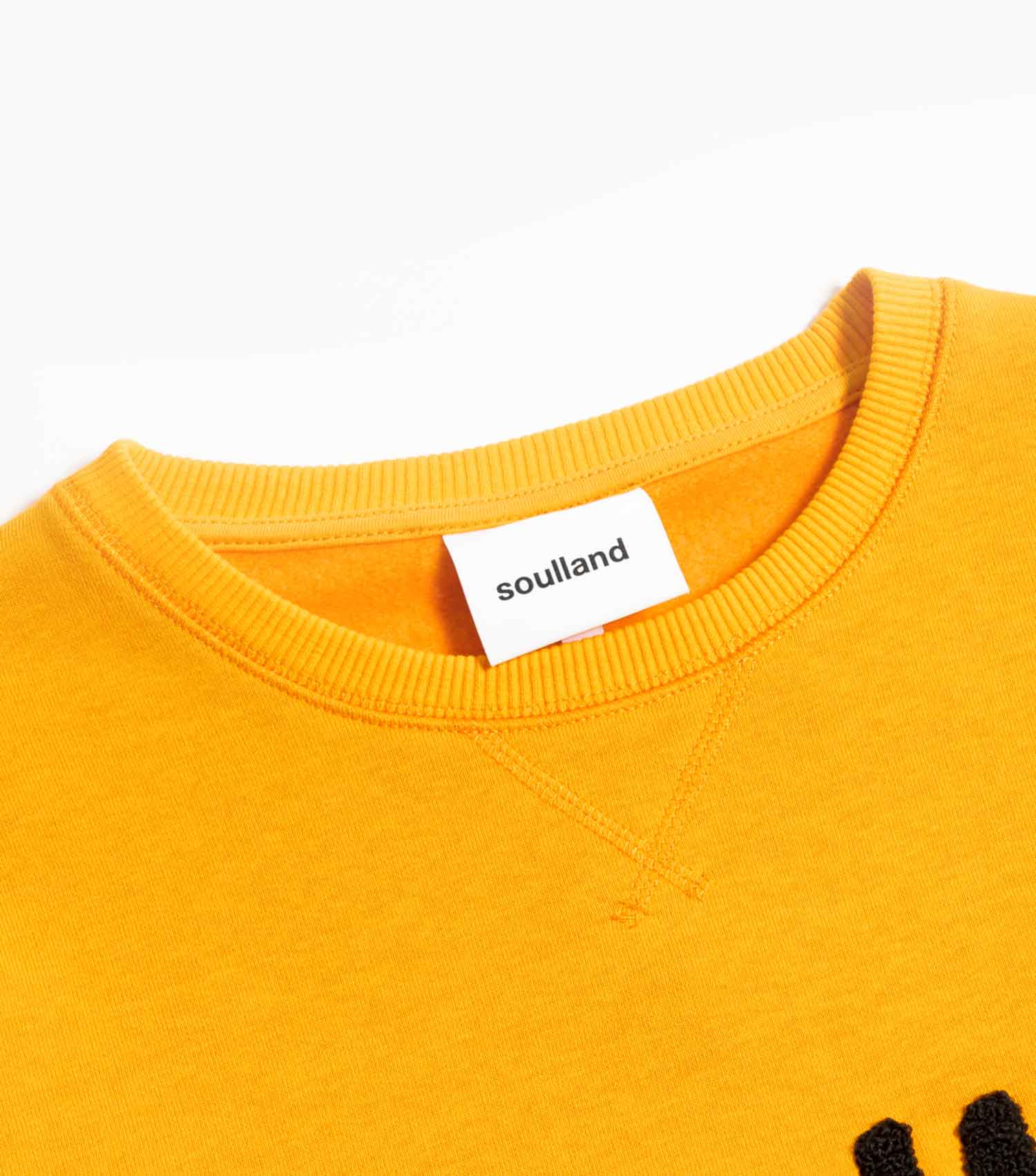 Soulland Normann Italian Brushed Fleece Sweatshirt - Orange Sweatshirt - CARTOCON