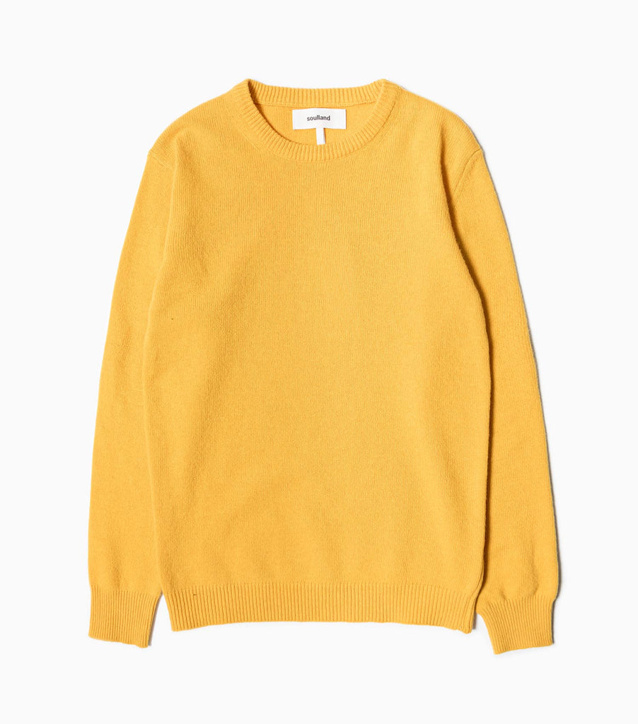 Soulland Giorgio Wool Jumper - Yellow
