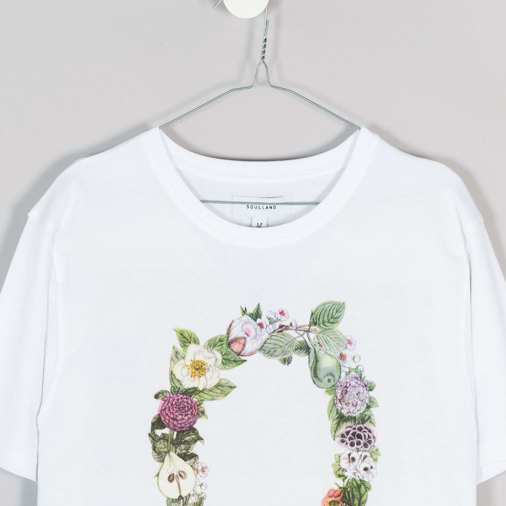 Soulland Flower T-Shirt – White - 3
