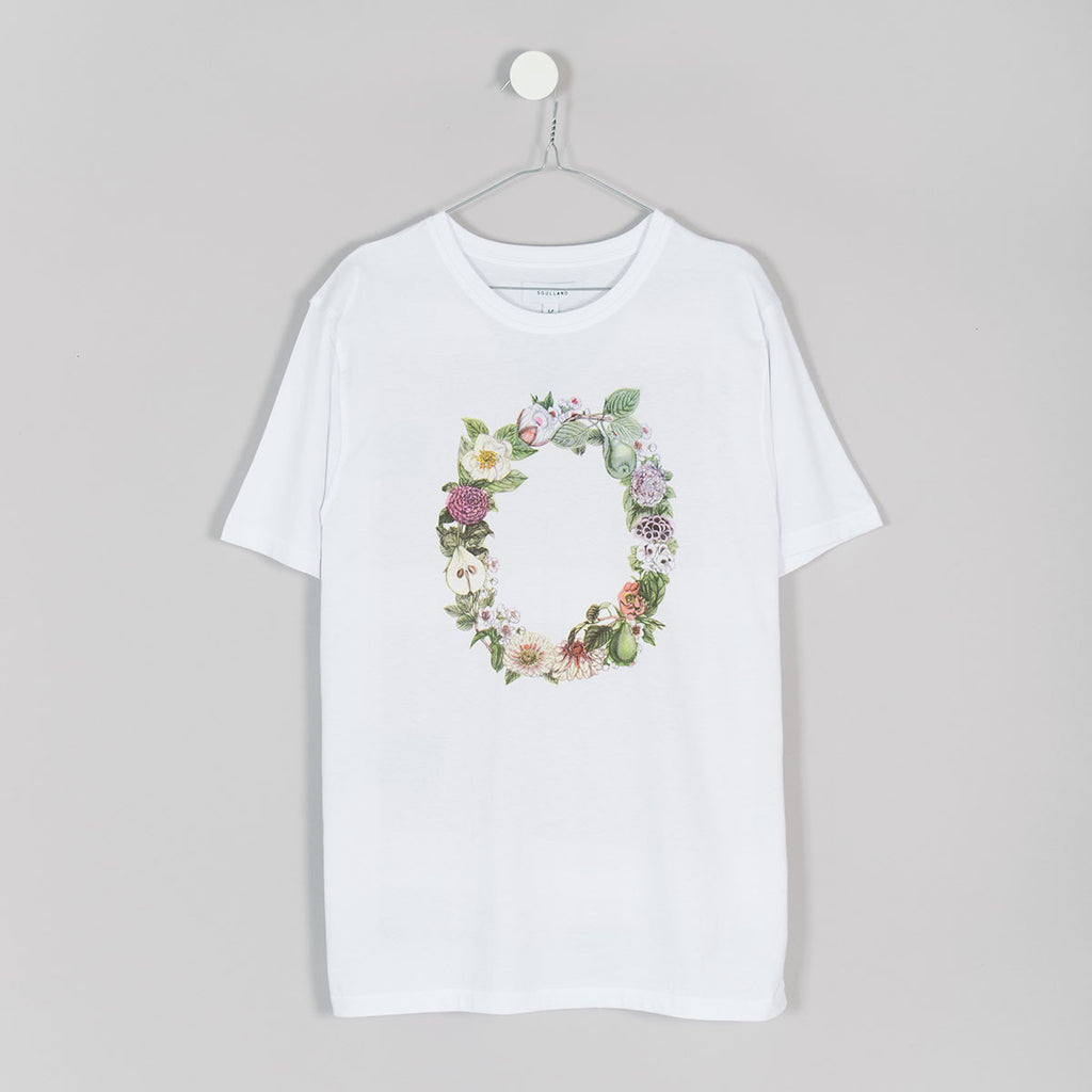 Soulland Flower T-Shirt – White - 1