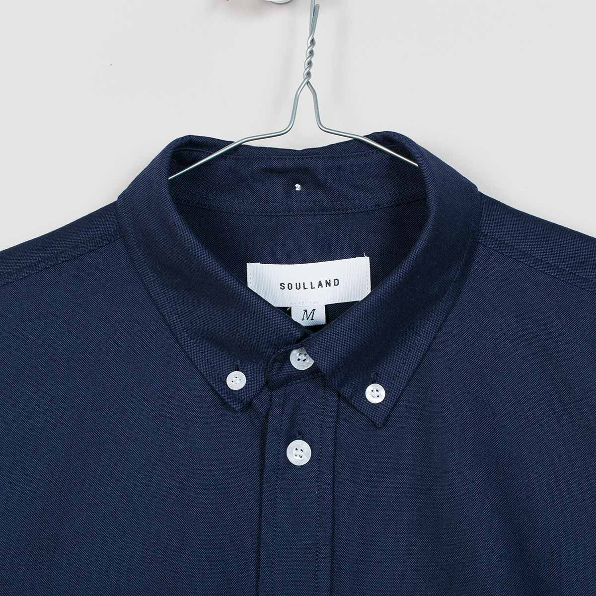 Soulland Goldsmith Shirt – Navy  - CARTOCON