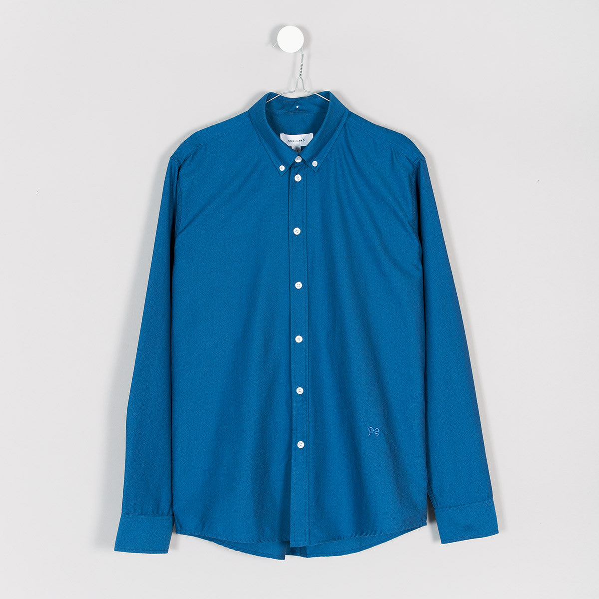 Soulland Goldsmith Oxford Shirt – Indigo Blue  - CARTOCON