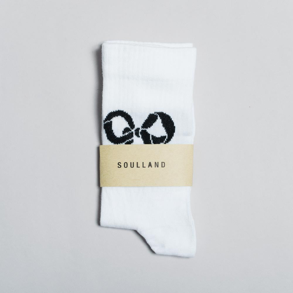 Soulland Ribbon Tennis Sock – White - 1