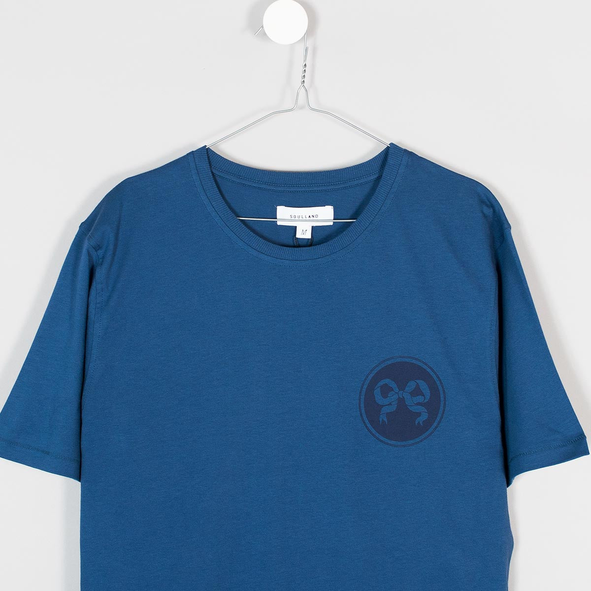 Soulland Ribbon T-Shirt – Indigo Blue - 3