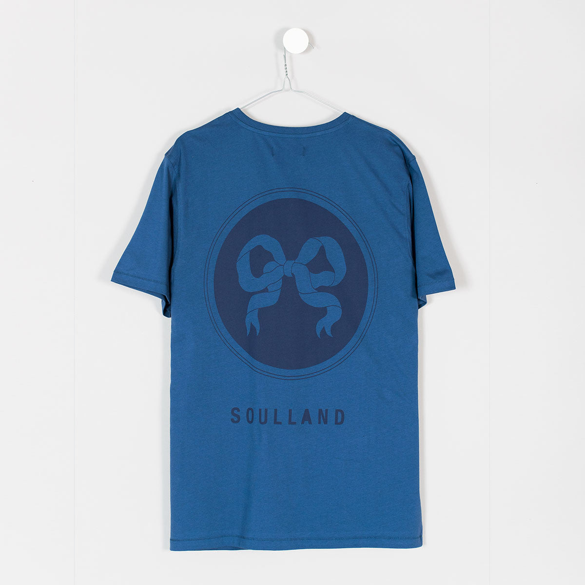 Soulland Ribbon T-Shirt – Indigo Blue - 2