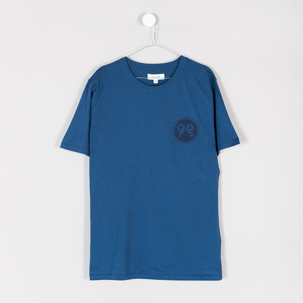 Soulland Ribbon T-Shirt – Indigo Blue  - CARTOCON