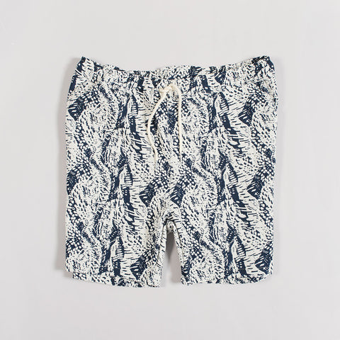 Soulland Schredder Woven Shorts – White/Navy  - CARTOCON