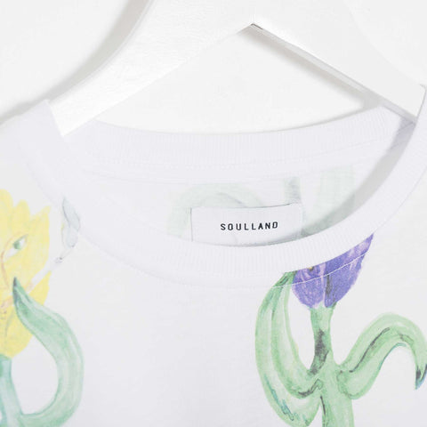 Soulland Loke T-Shirt - White/Multi T-Shirt - CARTOCON