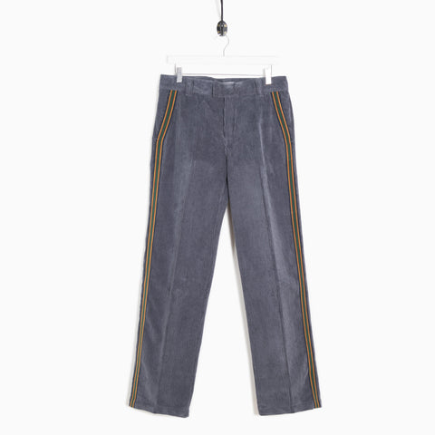 Soulland Greco Heavyweight Cord Trousers - Grey Trousers - CARTOCON