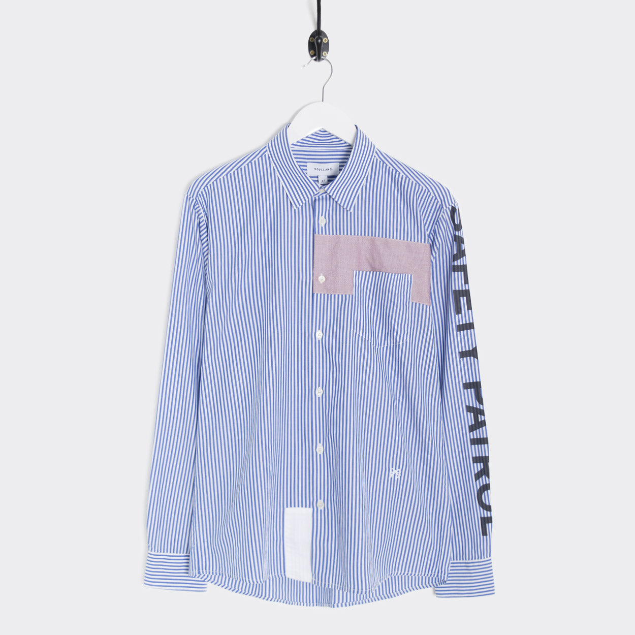 Soulland Wilcher Shirt - Navy Stripes