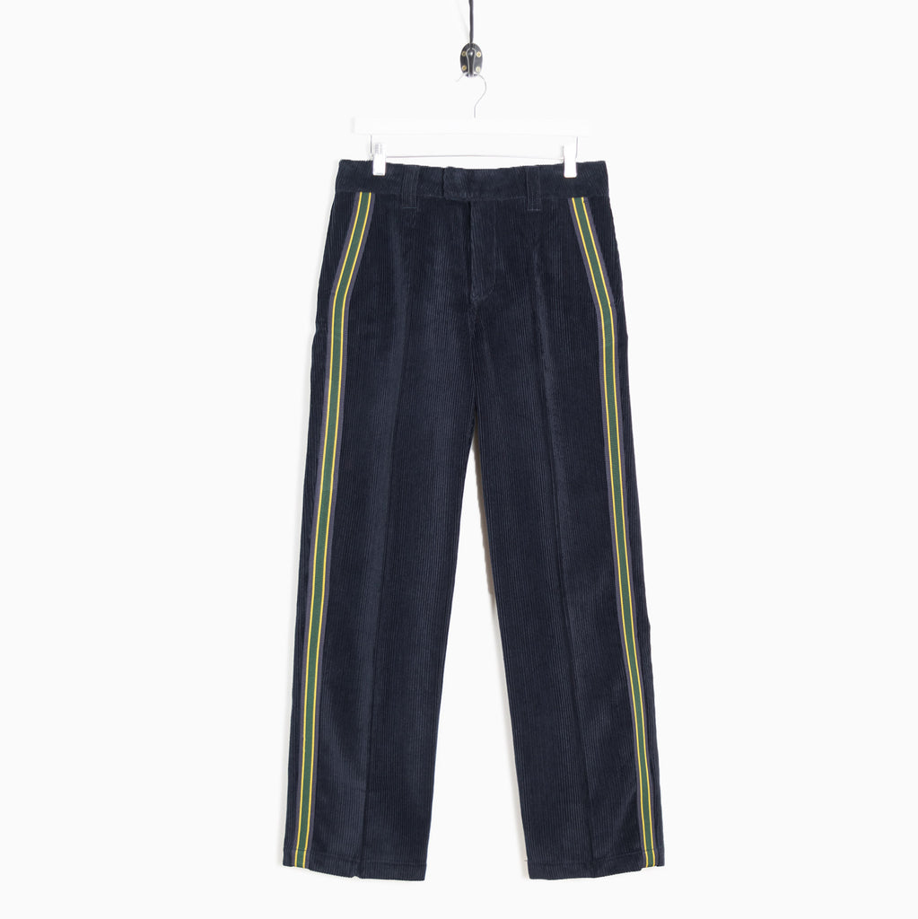 Soulland Greco Heavyweight Cord Trousers - Navy Blue Trousers - CARTOCON