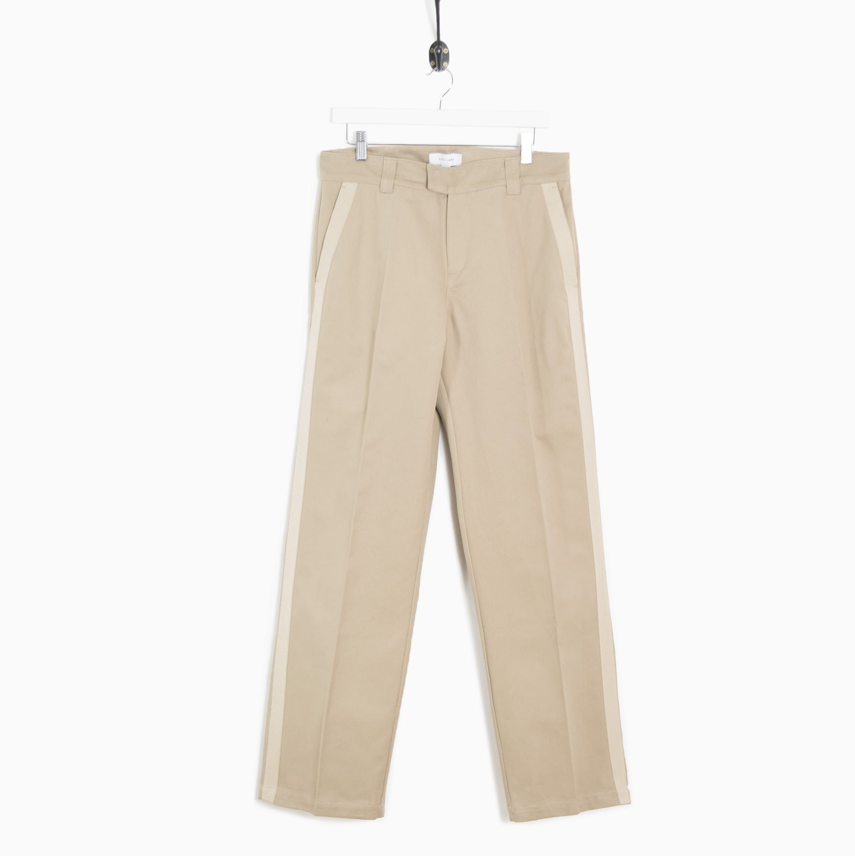 f398c5ade73 Soulland Greco Heavyweight Cotton Trouser - Light Beige
