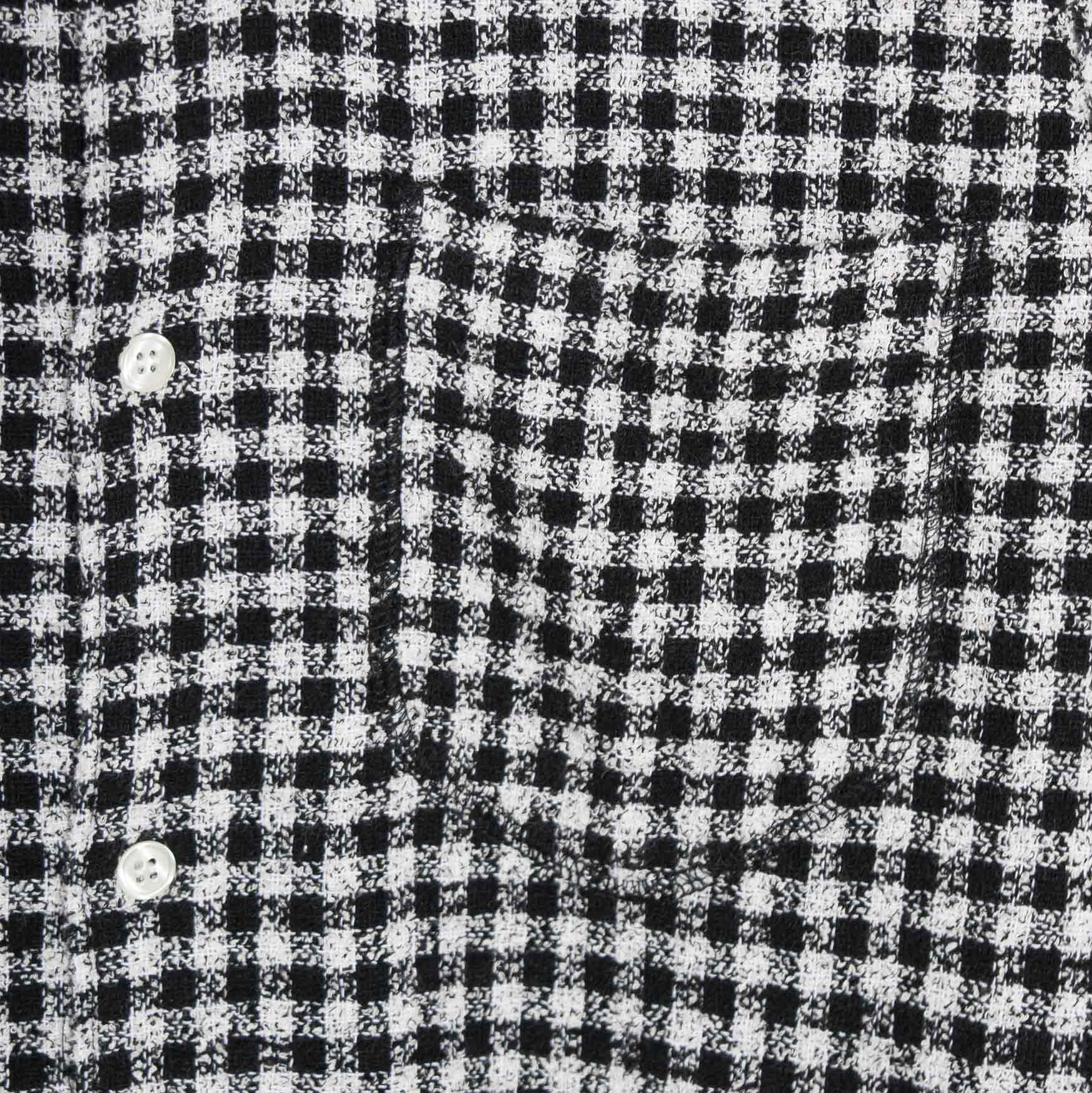 Soulland Green Checked Textured Shirt - Black/White