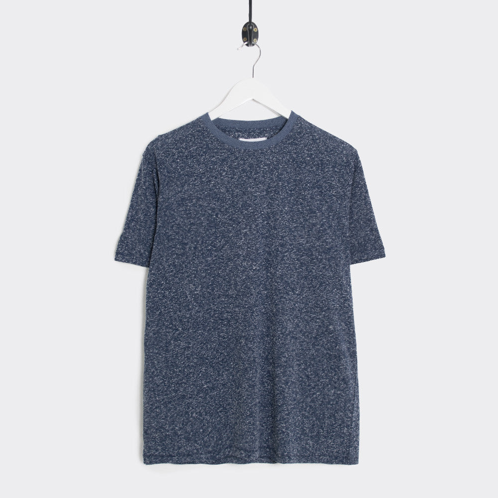 Soulland Airwrecka Slub Cotton T-Shirt - Navy  - CARTOCON